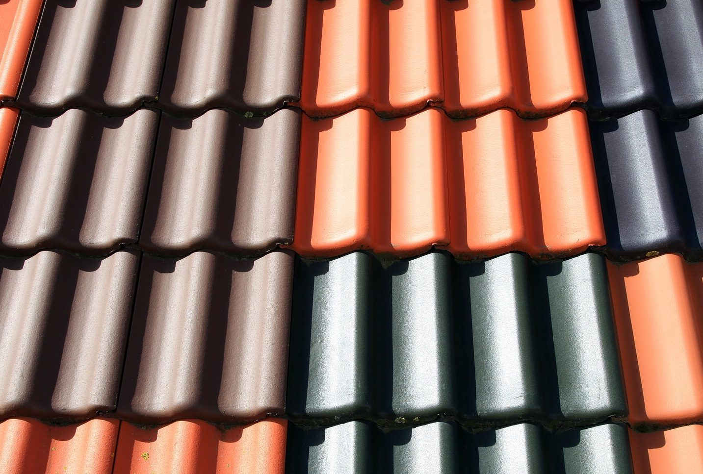 Picture of roofing terracotta tiles